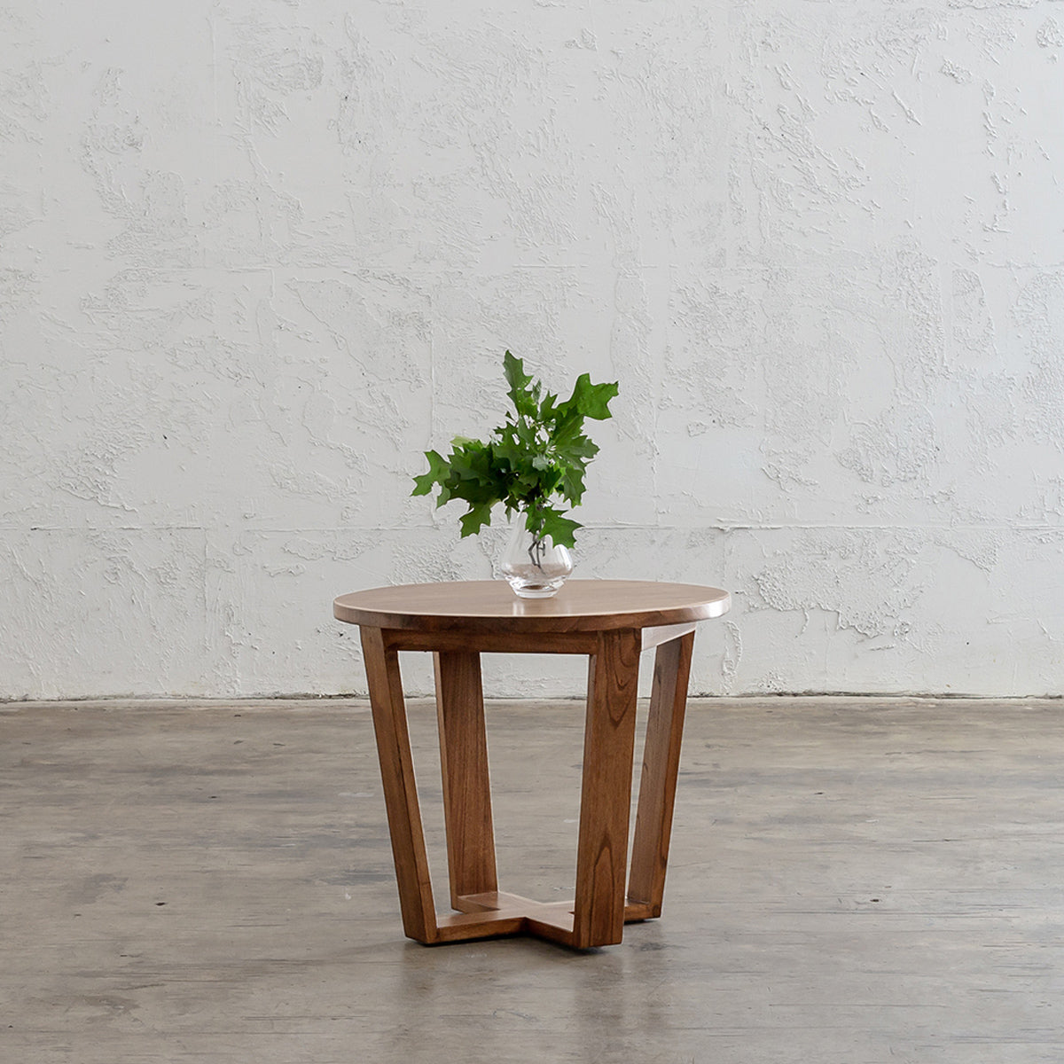 Amara Mid Century Timber Terrace Side Table Solid Top Wooden Side Table Living By Design