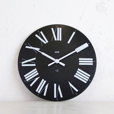 ALESSI  |  FIRENZE WALL CLOCK  |  BLACK  |  36CM DIAMETER