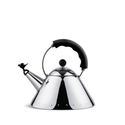 ALESSI  |  KETTLE 9093 WITH BIRD  |  BLACK HANDLE