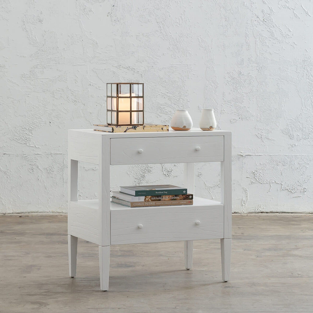 MARA CONRAD BEDSIDE NIGHTSTAND | WHITE TIMBER GRAIN