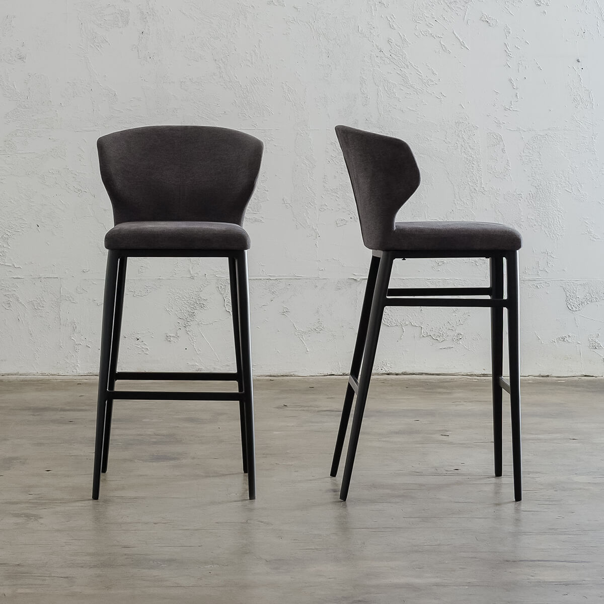 ANDERS BAR STOOL | HERRING GREY LUXE TWILL  |  FABRIC BAR STOOL