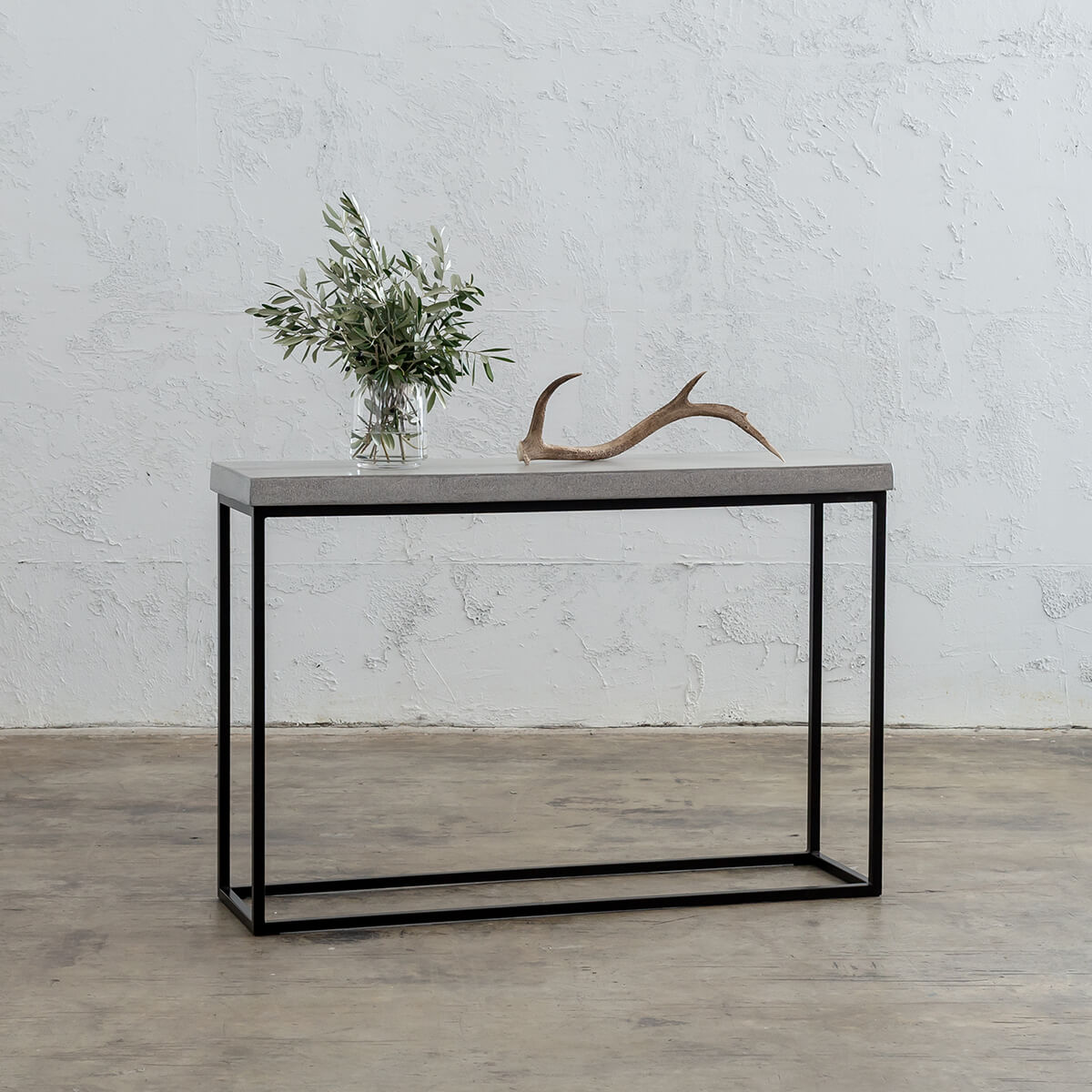 ARIA CONCRETE GRANITE CONSOLE TABLE   |  ZINC ASH
