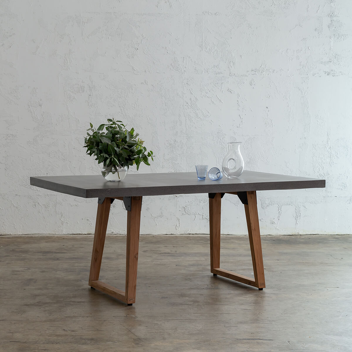 ARIA CONCRETE GRANITE TOP DINING TABLE  | INDOOR + OUTDOOR DINING TABLE  |  OUTDOOR FURNITURE