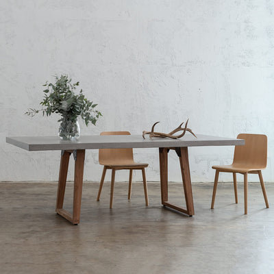 GRANITE CONCRETE DINING TABLE  |  SCANDI LEG  |  INDOOR + OUTDOOR FURNITURE  |  WHITE CONCRETE