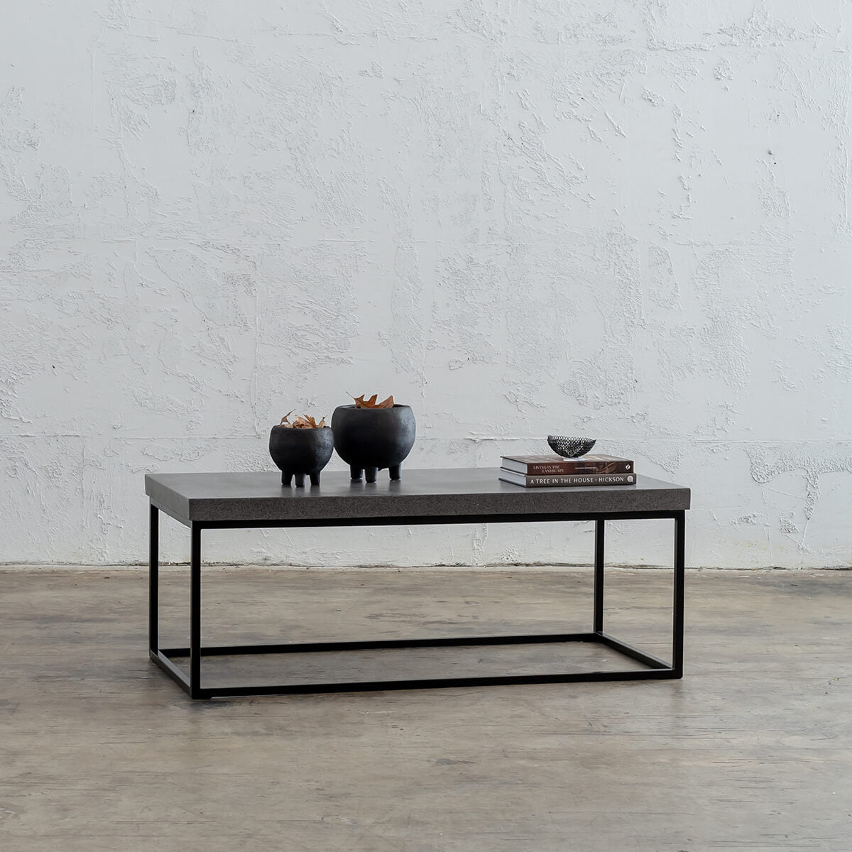 ARIA CONCRETE GRANITE RECTANGLE COFFEE TABLE   |  CLASSIC MID GREY