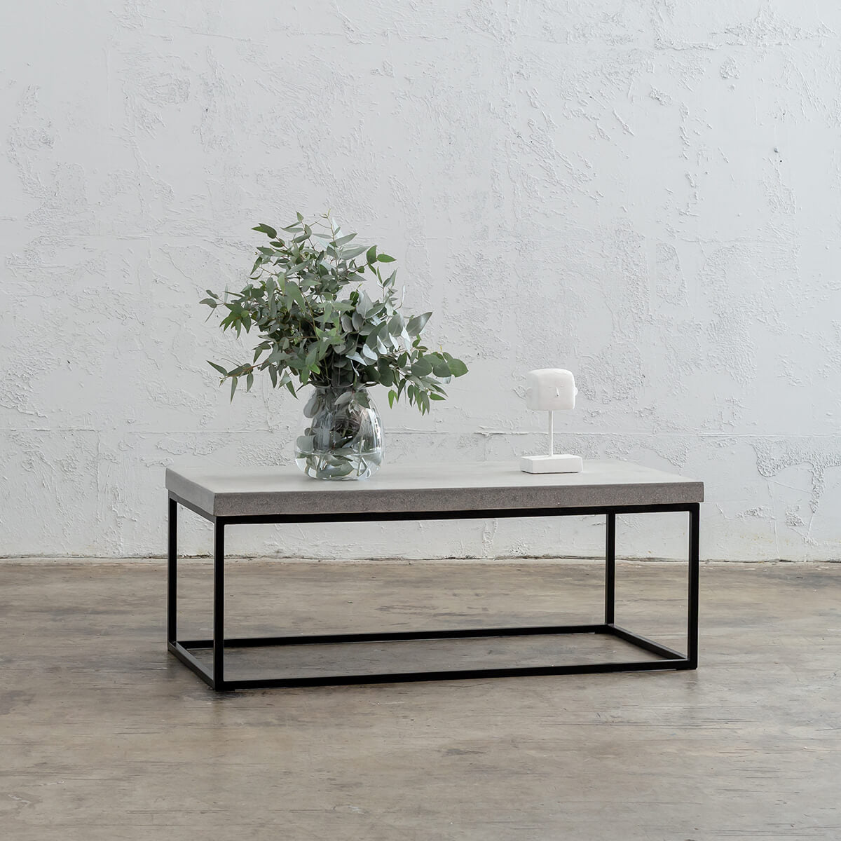 ARIA CONCRETE GRANITE RECTANGLE COFFEE TABLE   |  ZINC ASH WHITE