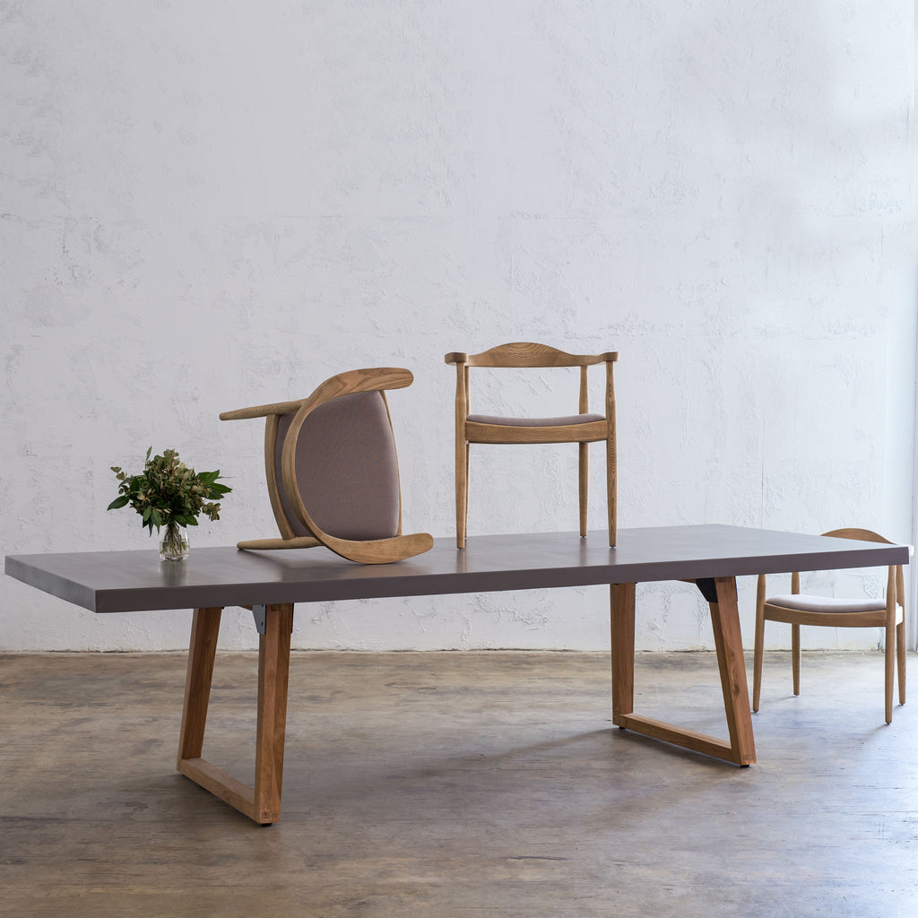 ARIA SCANDI LEG GRANITE TOP DINING TABLE  |  2.6m