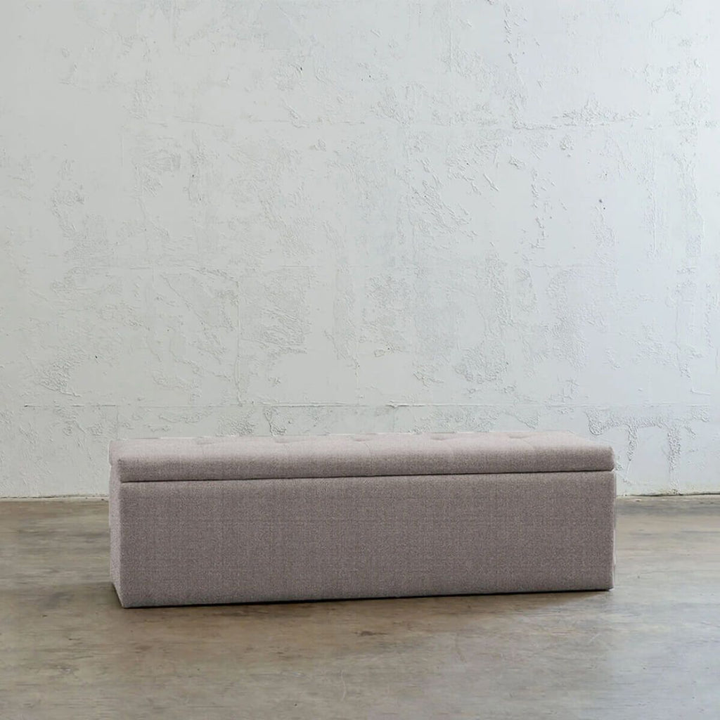 BAXTER BLANKET BOX  |  SMOKE GREY LINEN