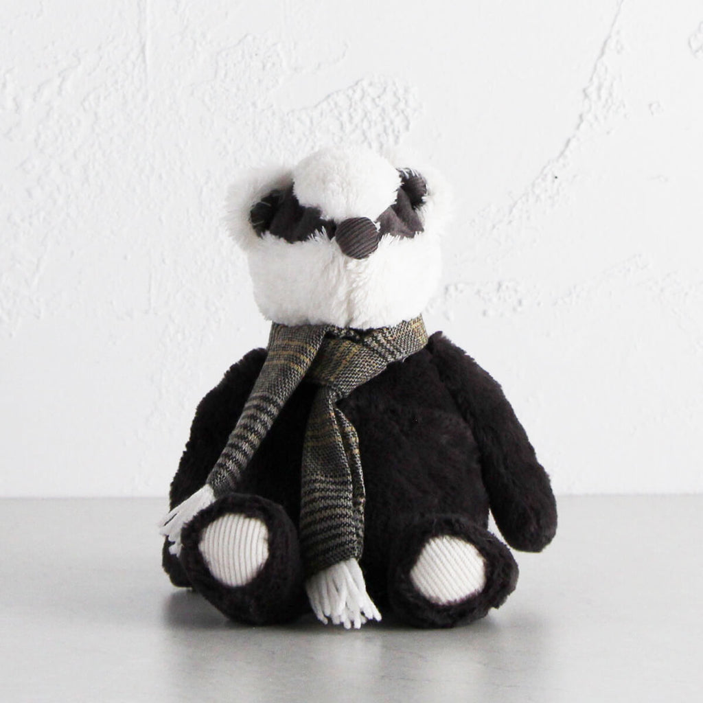 BORIS THE BADGER   |  CARBON GREY  |  SOFT BABY TOY