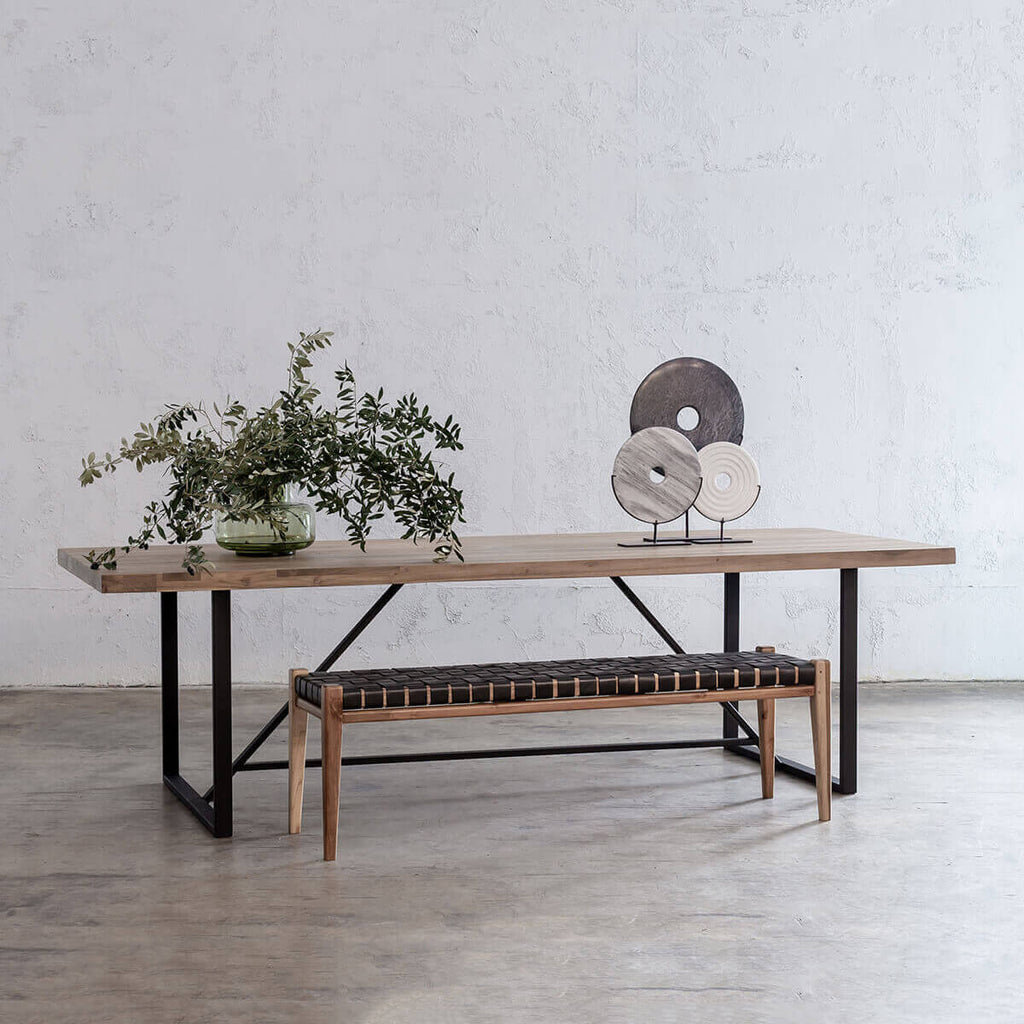 BAILEY RECYCLED TEAK DINING TABLE  |  RECYCLED TIMBER INDOOR DINING TABLE