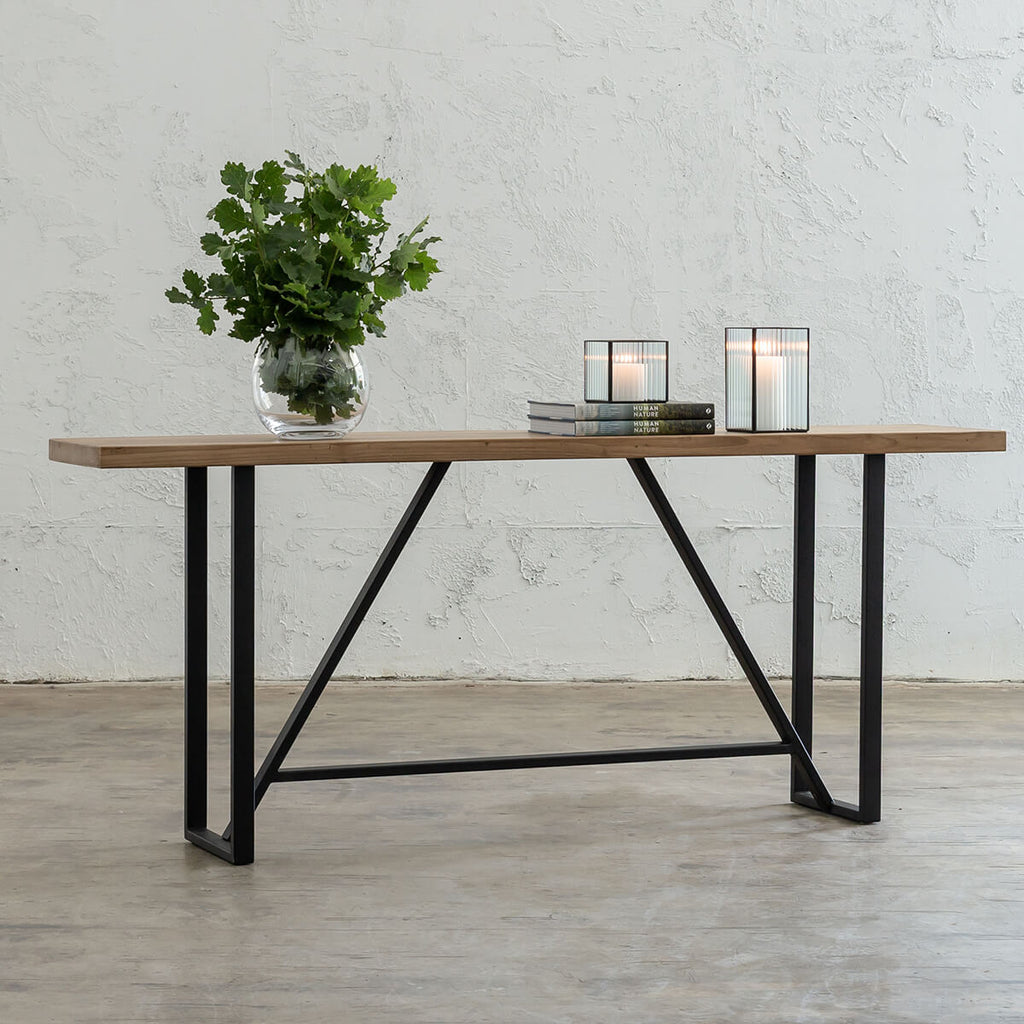 BAILEY TEAK CONSOLE TABLE | RECYCLED TEAK HALL TABLE