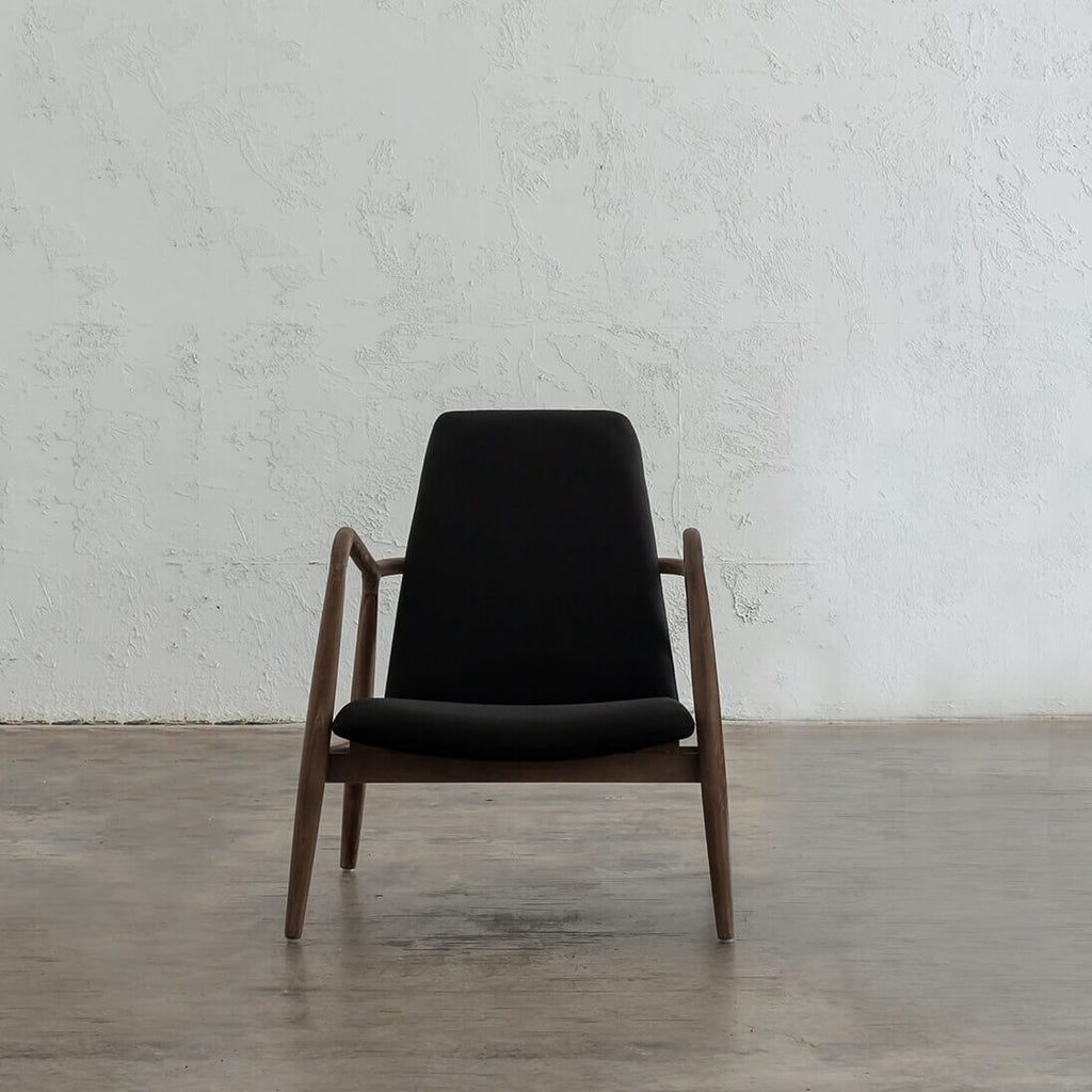 CALBY SCANDI TEAK ARM CHAIR | BLACK OCCASIONAL CHAIR | CALBY CHAIR