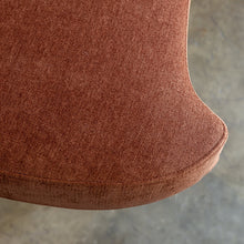 CARSON CURVE ARM CHAIR  |  TERRA RUST  |  LOUNGE FURNITURE FABRIC CLOSE UP