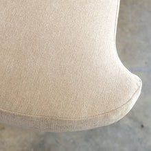 CARSON CURVE ARM CHAIR  |  DESERT SAND  |  LOUNGE FURNITURE  FABRIC CLOSE UP