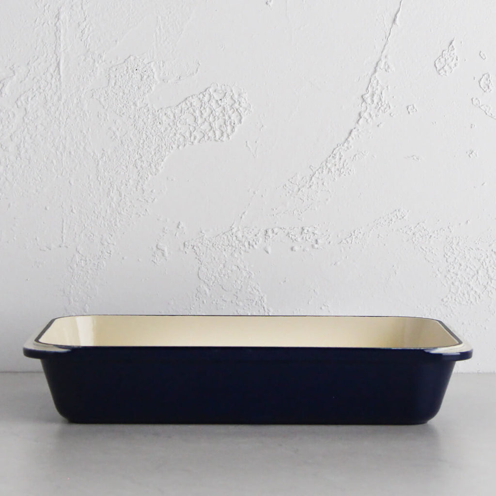 CHASSEUR | ROASTING PAN | FRENCH BLUE | 40 X 26cm  |  FRENCH CAST IRON COOKWARE