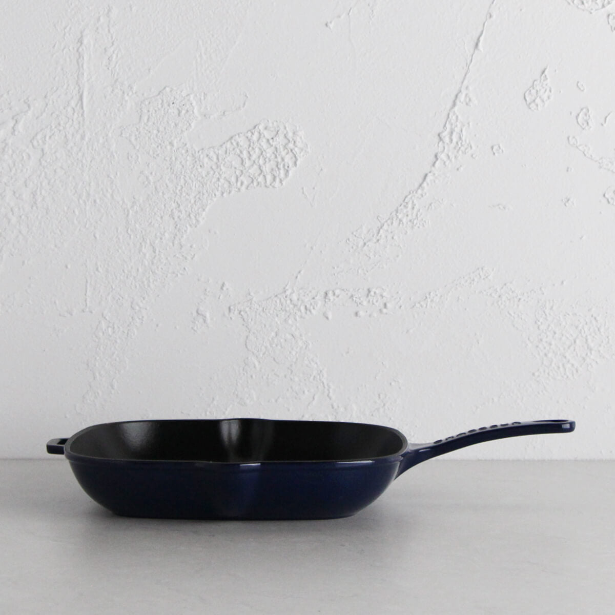 CHASSEUR | SQUARE GRILL PAN | FRENCH BLUE | 25CM  |  FRENCH CAST IRON COOKWARE
