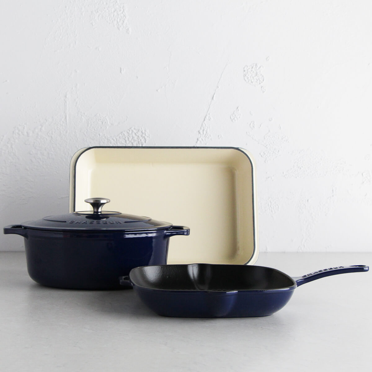 CHASSEUR FRENCH TRIO  |  FRENCH BLUE  |  CAST IRON FRENCH COOKWARE
