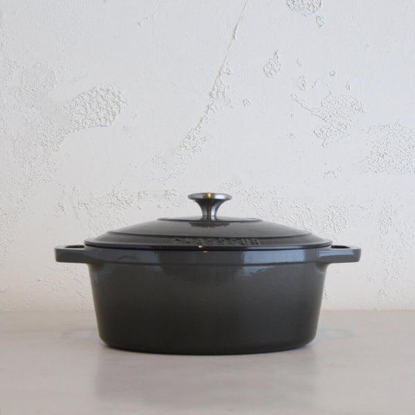 CHASSEUR  |  OVAL FRENCH OVEN  |  CAVIAR GREY  |  27CM  |  4L