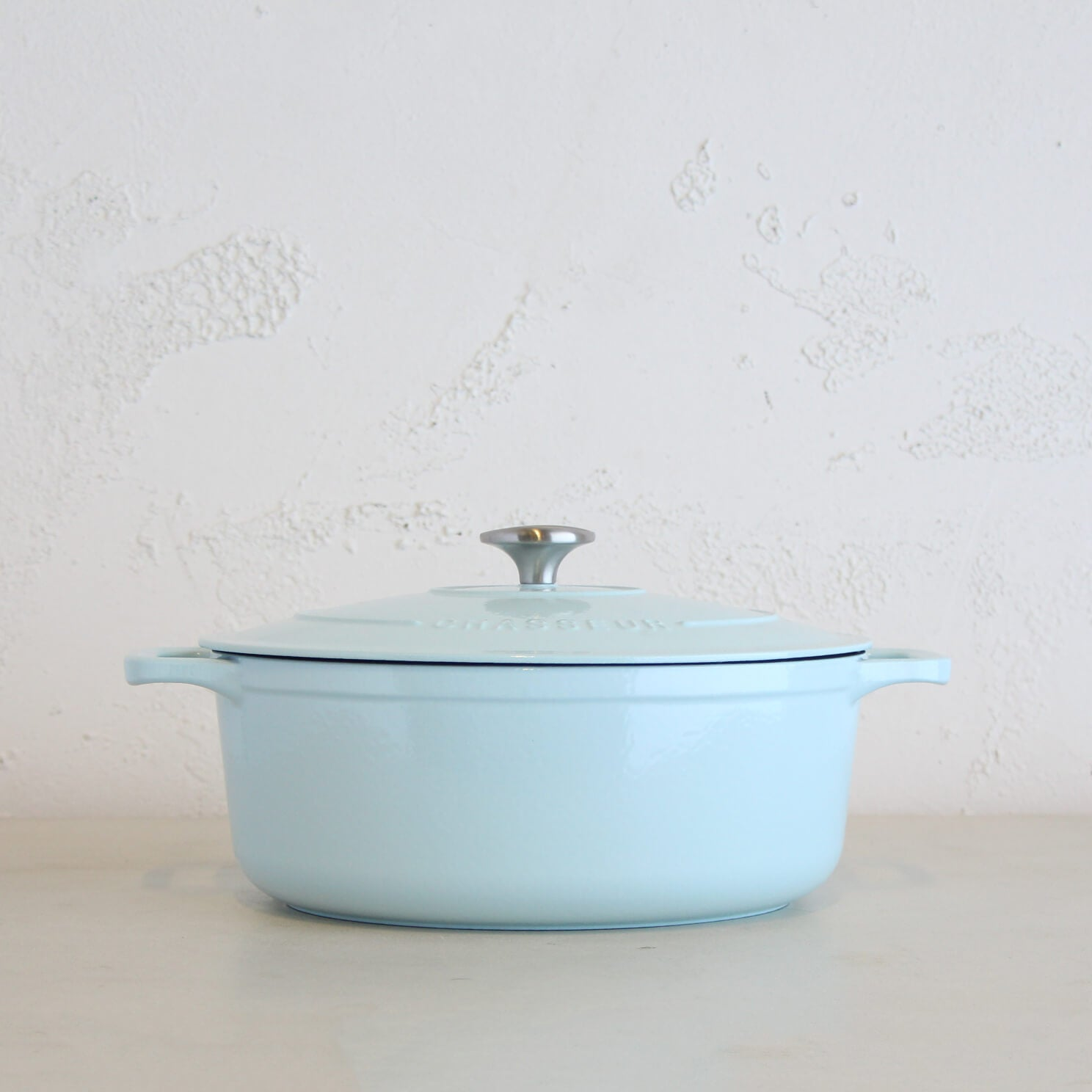 CHASSEUR  |  OVAL FRENCH OVEN  |  DUCK EGG BLUE  |   FRENCH ENAMEL COOKWARE