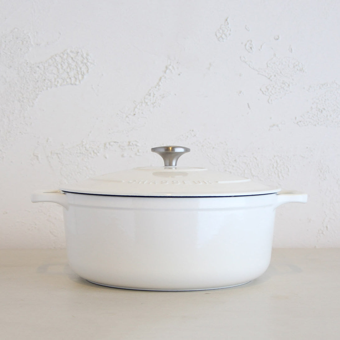 CHASSEUR  |  ROUND FRENCH OVEN  |  WHITE  |   FRENCH ENAMEL COOKWARE