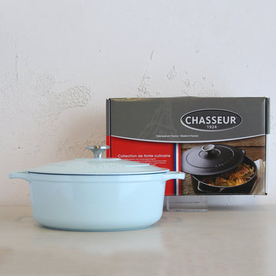 CHASSEUR  |  ROUND FRENCH OVEN  |  DUCK EGG BLUE  |  26CM  |  5L