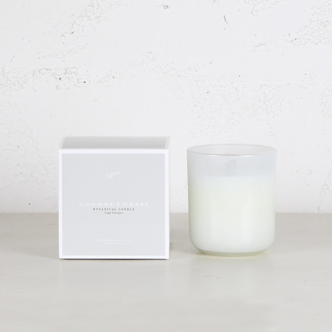 SOHUM ECO CEDARWICK CANDLE  |  GLASS FRAGRANCED CANDLE | COCONUT GRASS