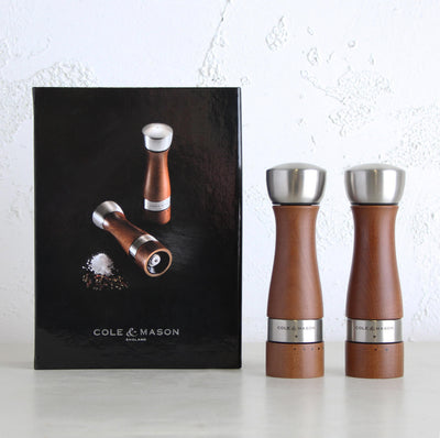 COLE + MASON  |  OLDBURY SALT + PEPPER GIFT SET  |  WOOD