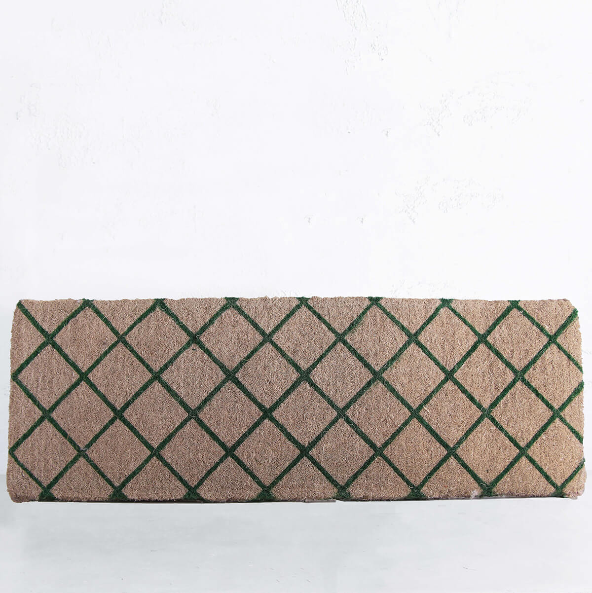 FRENCH GREEN TRELLIS DOOR MAT