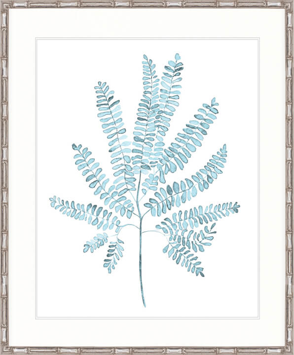 DESIGNER BOYS ART  |  PALE BLUE FOLIAGE I  |  PRINTED ARTWORK