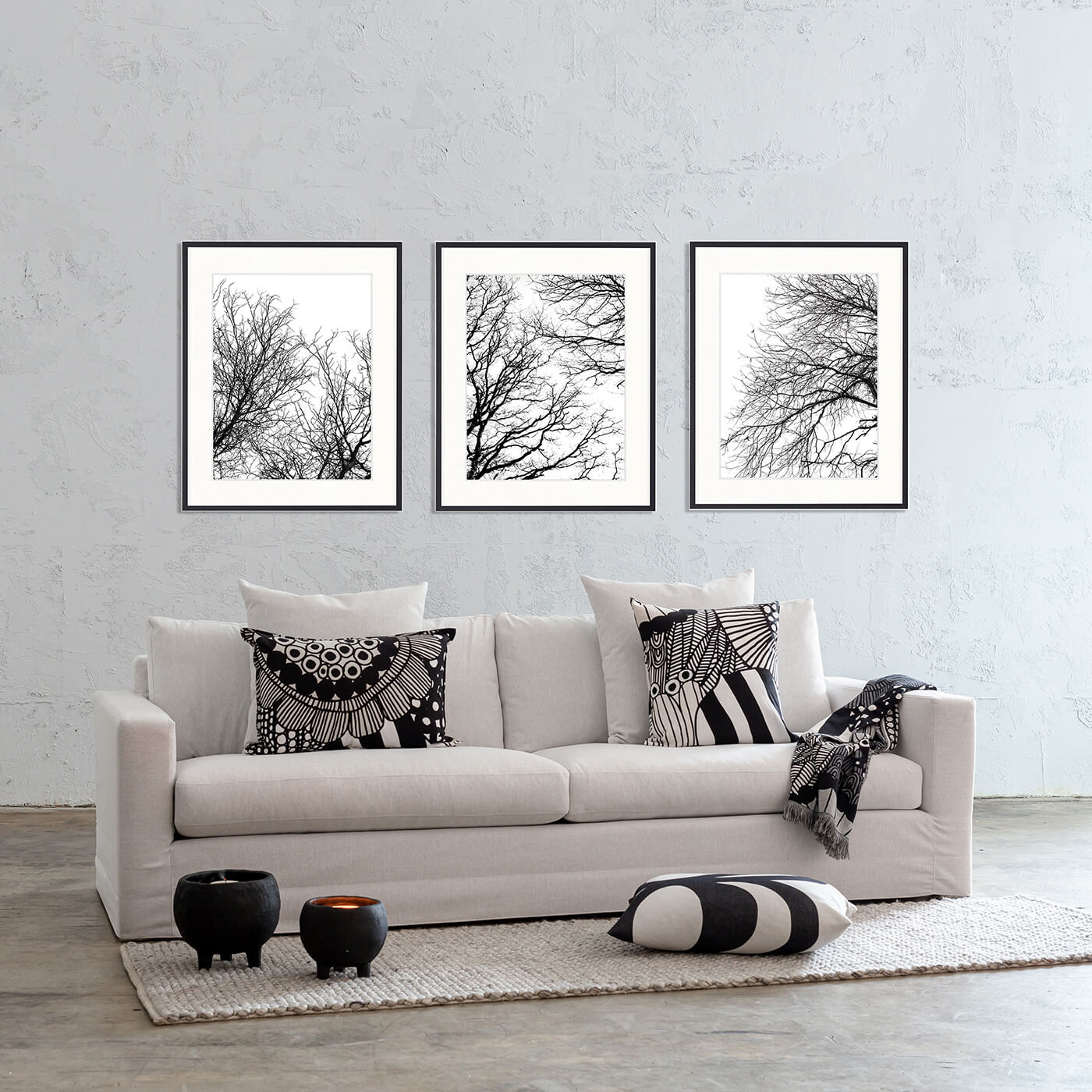 DESIGNER BOYS ART  |  HYDE PARK TREE SILHOUETTE III  |  PRINTED ARTWORK