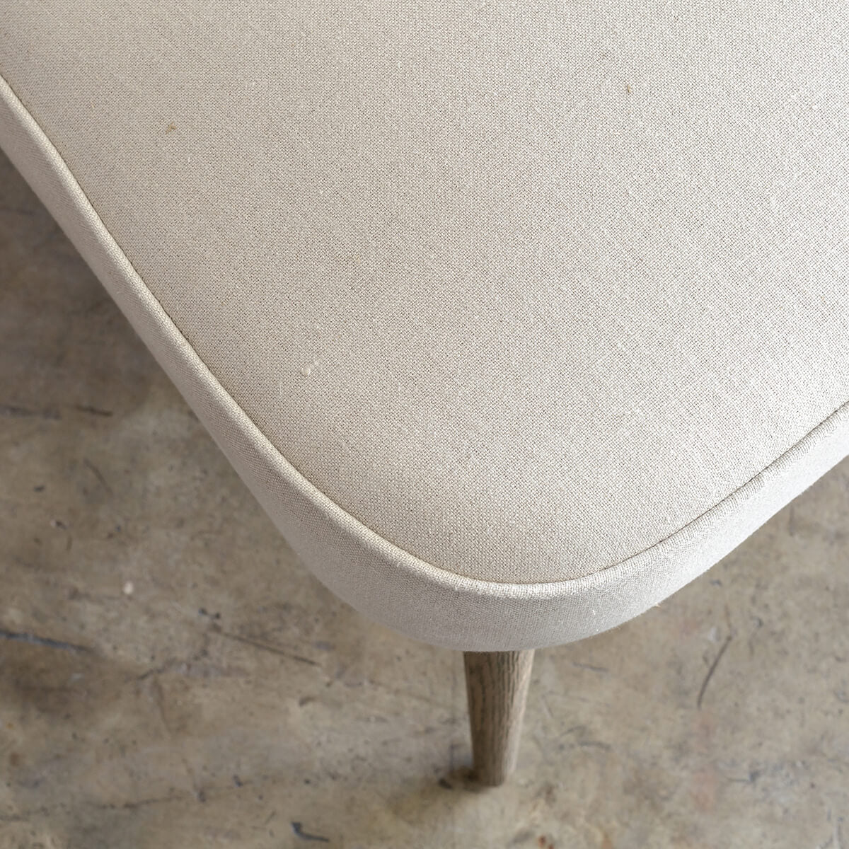 FAULKES SHELL BACK ARM CHAIR  |  FLAX NATURAL 100%  LINEN