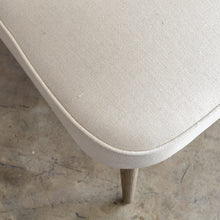 FAULKES SHELL BACK ARM CHAIR | NATURAL LINEN REAR VIEW FABRIC CLOSE UP