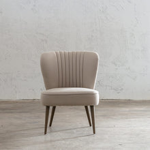 FAULKES SHELL BACK ARM CHAIR  |  NATURAL LINEN