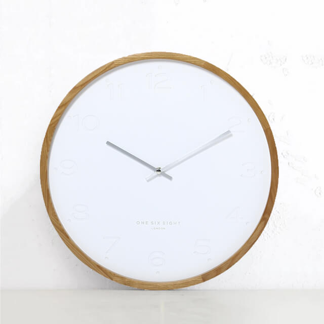 FREYA SILENT WALL CLOCK | CHARCOAL WHITE | 35CM DIAMETER  | SCANDI CLOCK