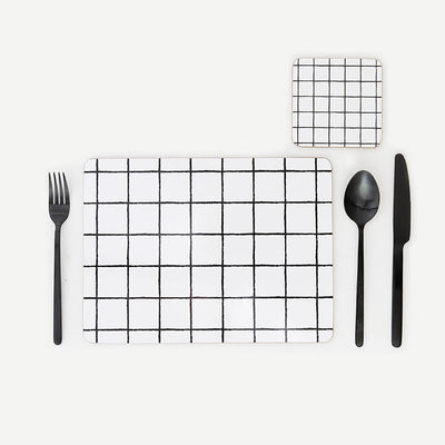 MY HYGGE HOME  |  GLAM GRID DELUXE PLACEMATS  |  SET OF 4