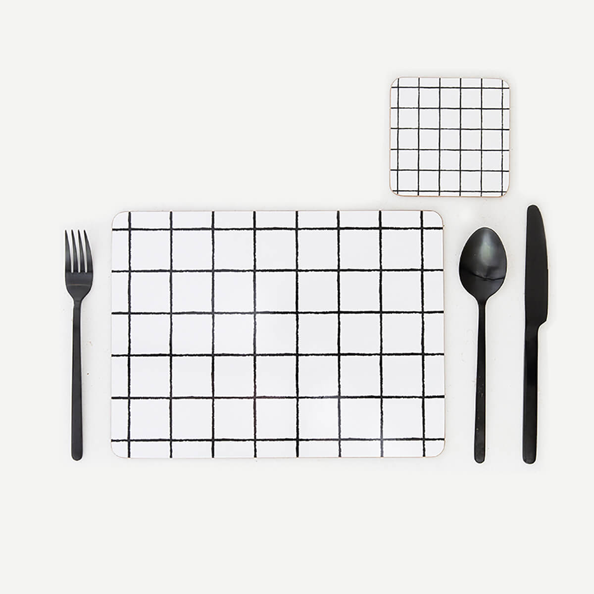MY HYGGE HOME  |  GLAM GRID DELUXE PLACEMATS + COASTERS  |  SETTING OF 4