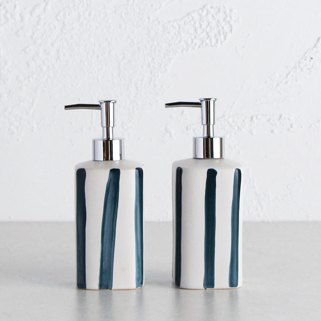 HASTINGS SOAP DISPENSER | 500ML BUNDLE x 2 | WHITE + NAVY