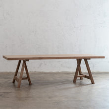 HESTON RECYCLED TEAK DINING TABLE   |  RECYCLED TEAK INDOOR COUNTRY DINING TABLE  COUNTRY STYLE INDOOR TABLE