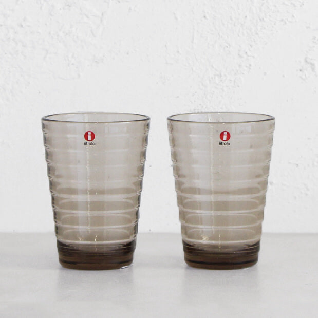 IITTALA  |  AINO AALTO HIGH BALL GLASS  |  LINEN  |  SET OF 2