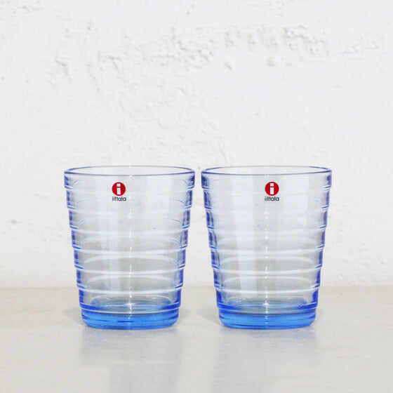 IITTALA | AINO AALTO TUMBLER GLASS AQUA | SET OF 2 WINE GLASSES