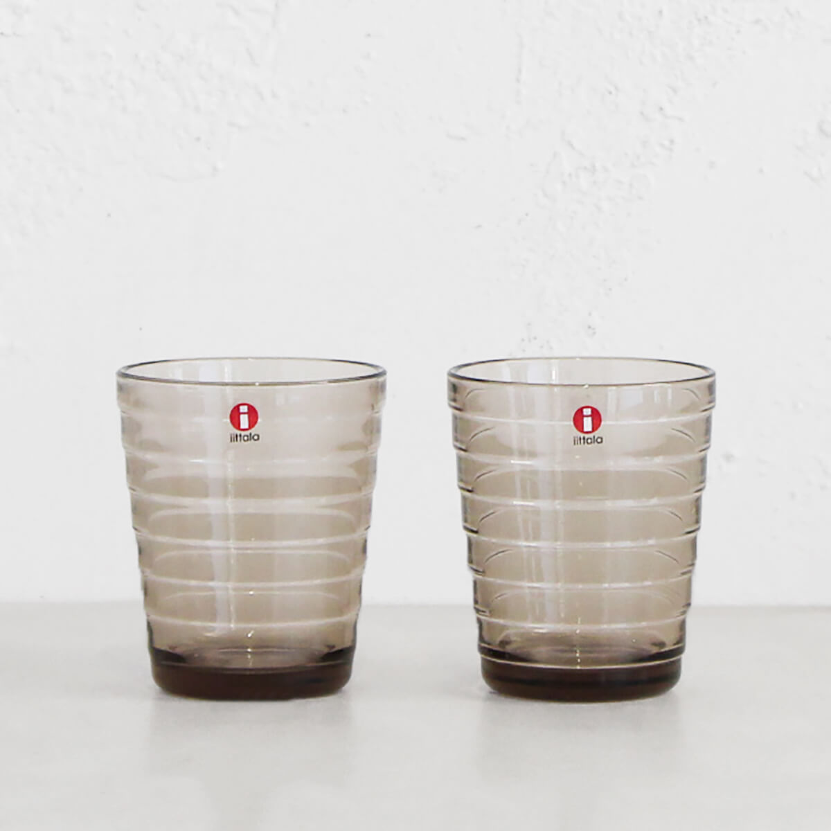 IITTALA  |  AINO AALTO TUMBLER GLASS LINEN  |  SET OF 2