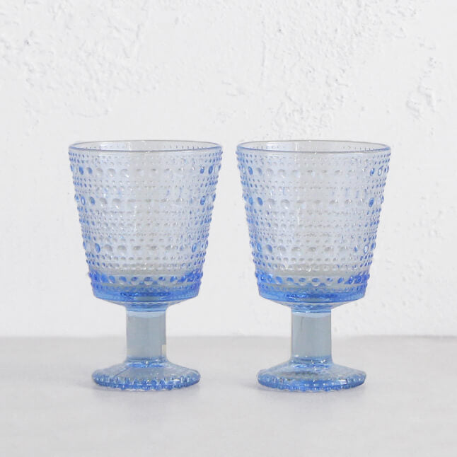 IITTALA  |  KASTEHELMI UNIVERSAL STEM GLASS |   AQUA  |  ENTERTAINING GLASSWARE