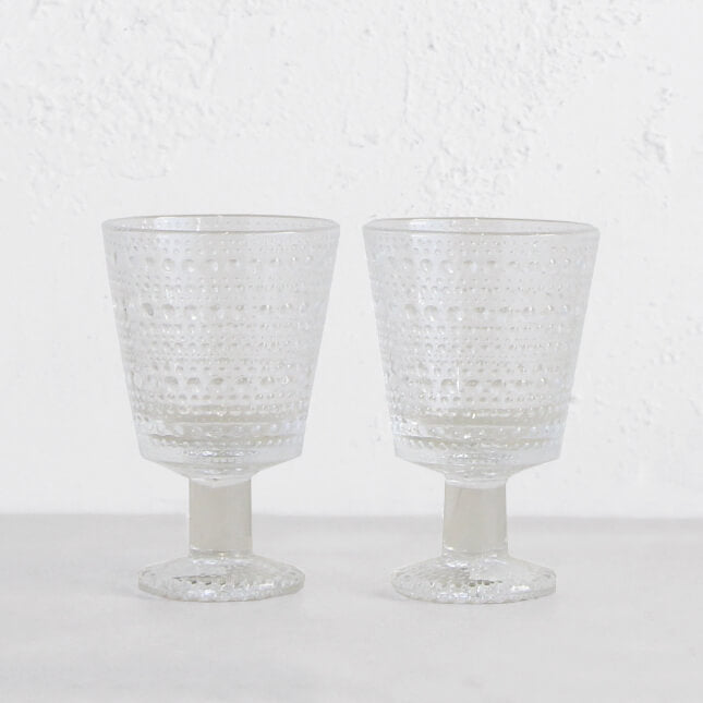 IITTALA  |  KASTEHELMI UNIVERSAL STEM GLASS |   CLEAR  |  TABLE GLASSWARE