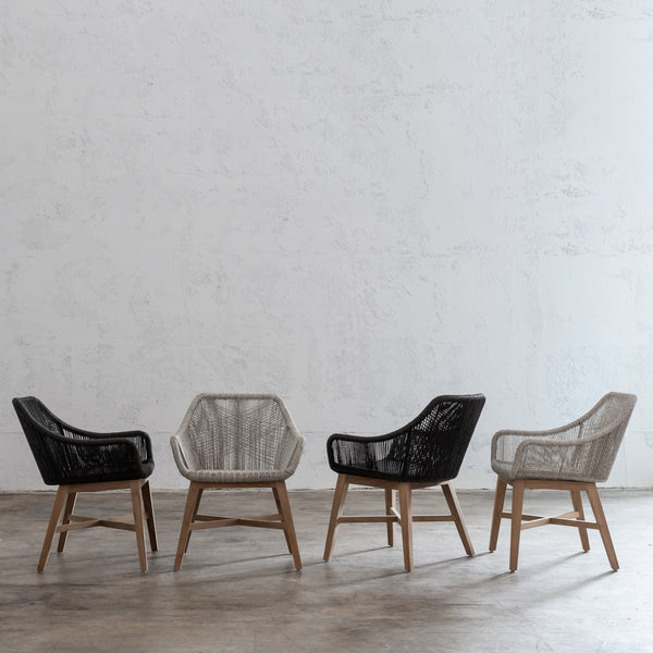 INIZIA WOVEN DINING CHAIR  |  ASH GREY