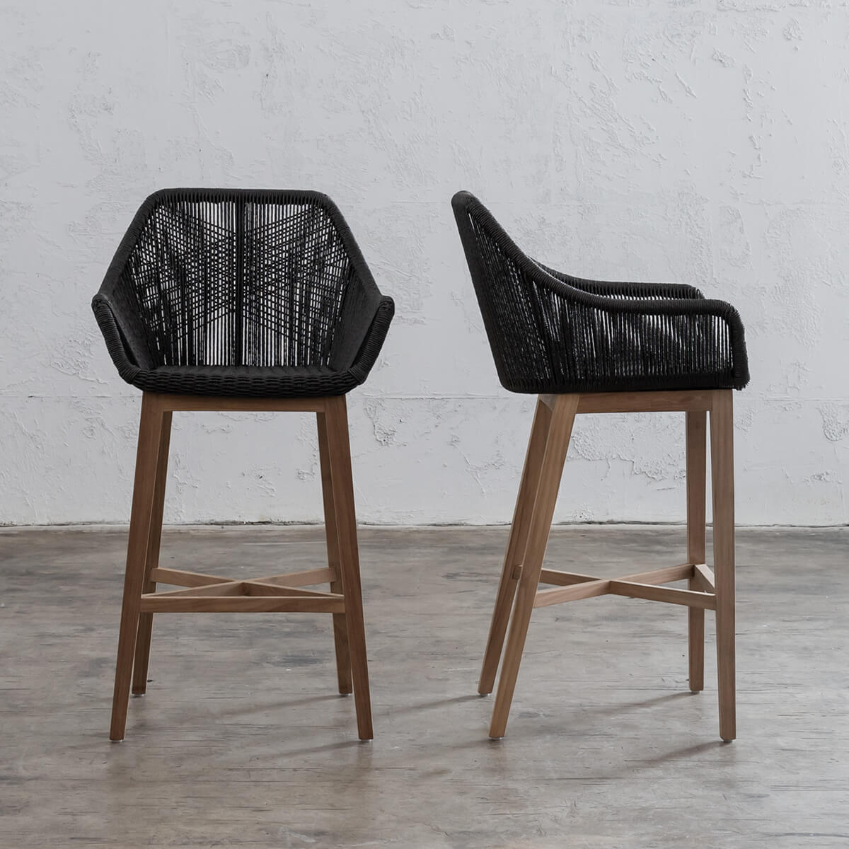 Picture of: Inizia Woven Rattan Outdoor Chair Indoor Bar Chair Hamptons Bar Stool