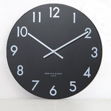 JACKSON SILENT WALL CLOCK | BLACK CLOCK | 60CM DIAMETER  |  MODERN HOME CLOCK