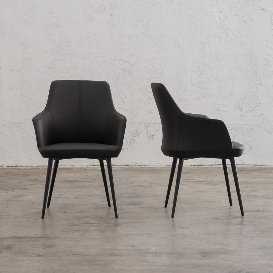 JAKOB CARVER CHAIR  |  FAUX LEATHER  |  NOIR BLACK
