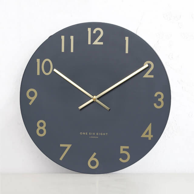 ONE SIX EIGHT LONDON  |  JONES SILENT WALL CLOCK  |  CHARCOAL GREY 40CM