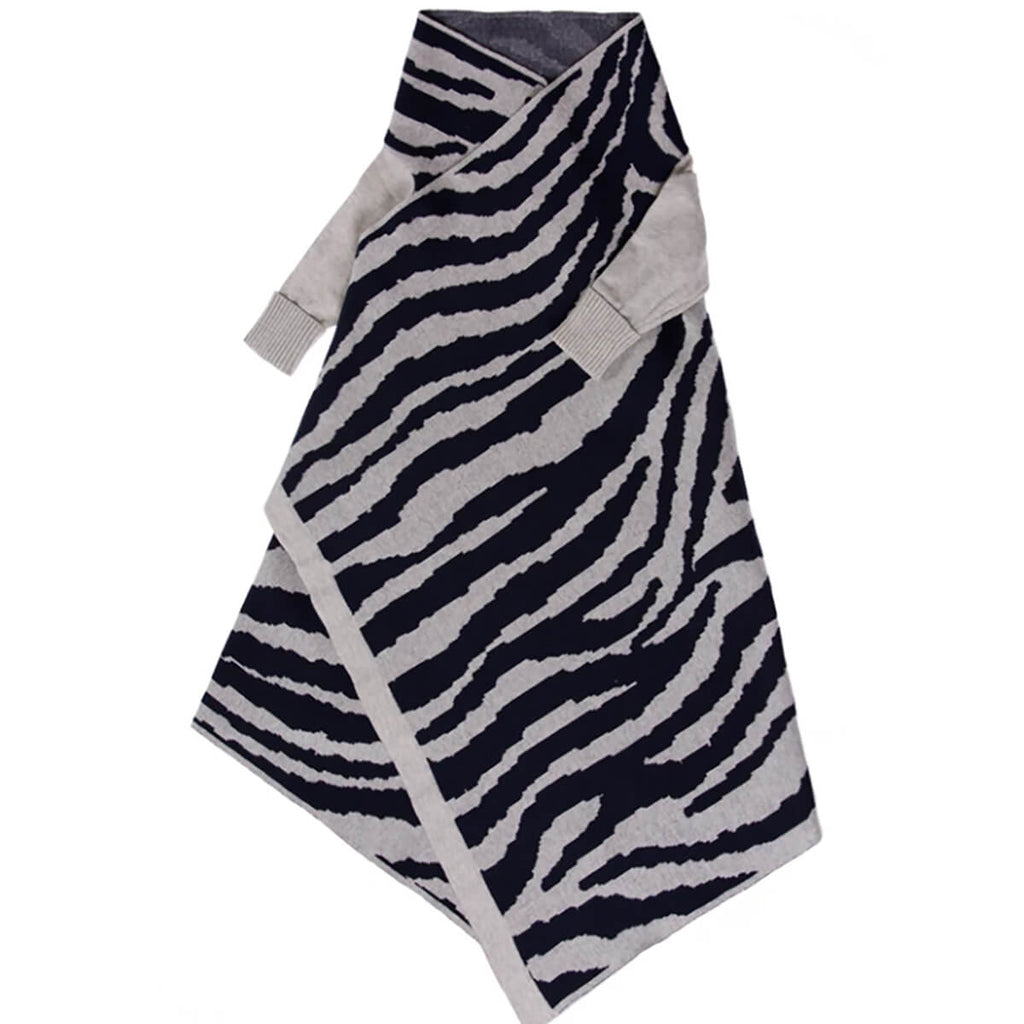 JUJO BABY  | ANIMAL PATTERN SHWRAP  |   NAVY/SILVER  |  BABY WRAP