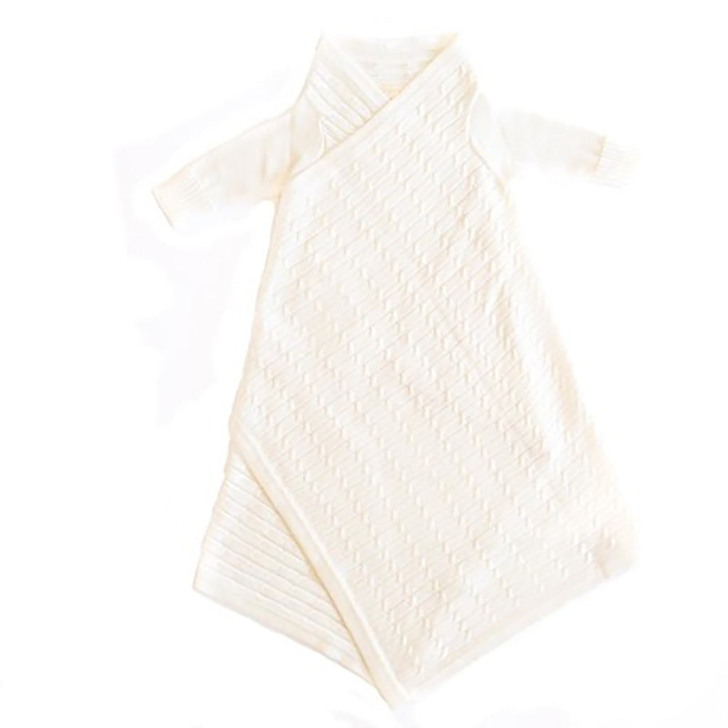 JUJO BABY  |  ALL OVER LUXURY CABLE KNIT SHWRAP  |  ECRU